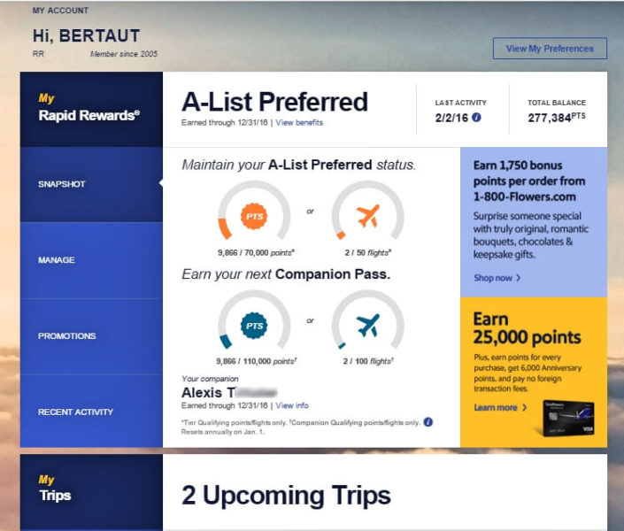 Southwest Companion Pass Awesome airline perk