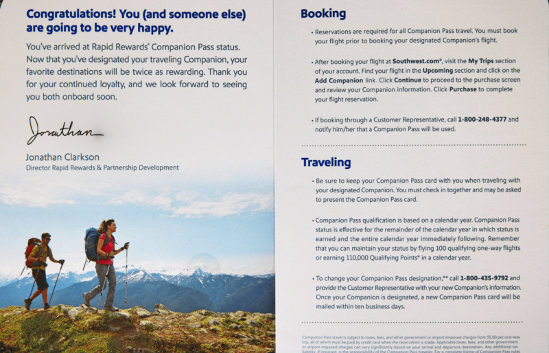 Southwest Companion Pass Airline Perk Awesome Perk