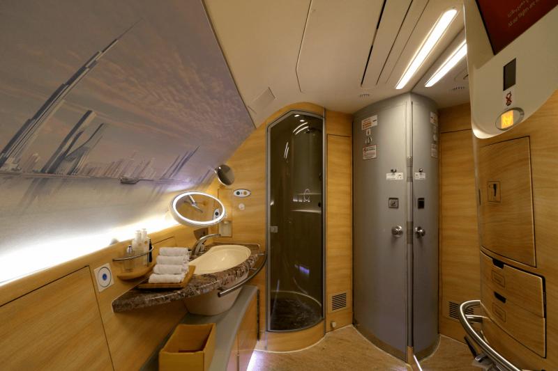 Emirates First Class Trip Report New York City To Milan Luxury Travel World Travel Adventurers Travel Like Millionaires Emirates Shower