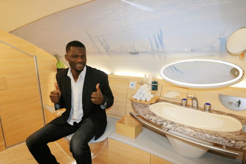 Emirates First Class Trip Report New York City To Milan Luxury Travel World Travel Adventurers Travel Like Millionaires Shower