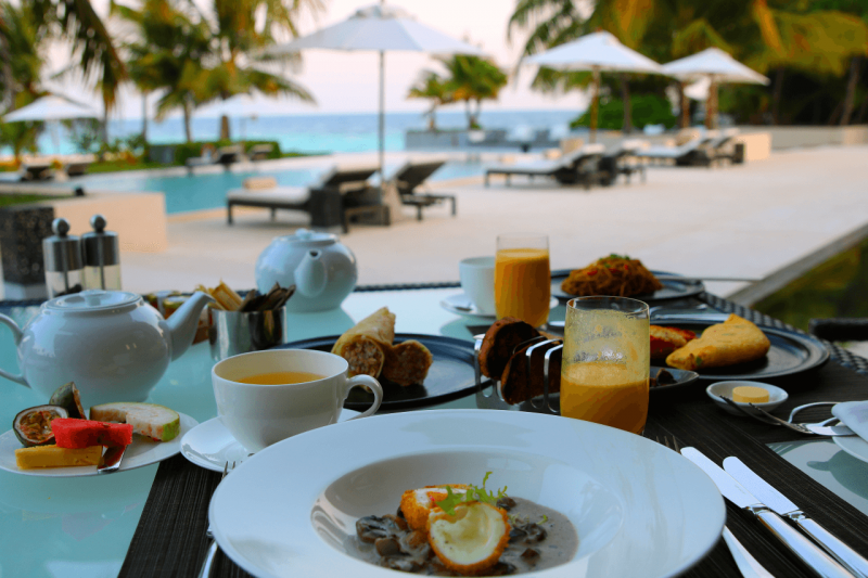 World Travel Adventurers, WorldTravelAdventurers, Park Hyatt Maldives, Hadahaa, Complimentary Breakfast, foodie, food, gourmet, Luxury Travel, Luxury resort, dream vacation, ocean view, paradise, island life