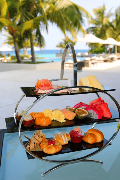 World Travel Adventurers, WorldTravelAdventurers, Park Hyatt Maldives, Hadahaa, Complimentary Breakfast, foodie, food, gourmet, Luxury Travel, Luxury resort, dream vacation, ocean view, fruit, tropical fruit