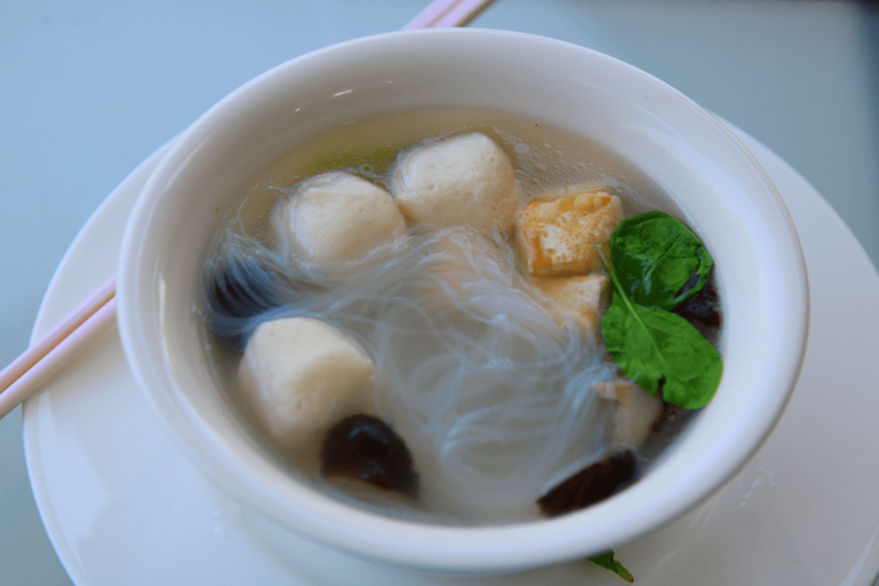 World Travel Adventurers, WorldTravelAdventurers, Park Hyatt Maldives, Hadahaa, Complimentary Breakfast, foodie, food, gourmet, Luxury Travel, Luxury resort, dream vacation, ocean view, fish ball and glass noodle soup