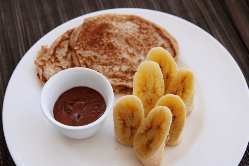 World Travel Adventurers, WorldTravelAdventurers, Park Hyatt Maldives, Hadahaa, Complimentary Breakfast, foodie, food, gourmet, Luxury Travel, Luxury resort, dream vacation, ocean view, Nutella banana crepe