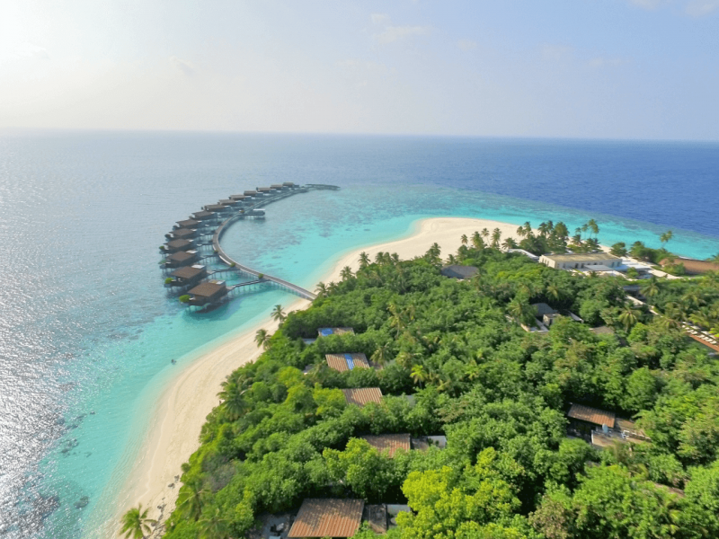 Drone view of Maldives, Indian Ocean, snorkeling, beach, luxury resort, luxury travel, travel bloggers, WorldTravelAdventurers, World Travel Adventurers