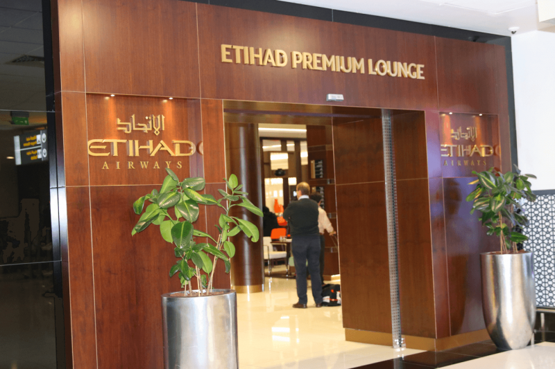 Etihad Premium Lounge in Abu Dhabi is very impressive