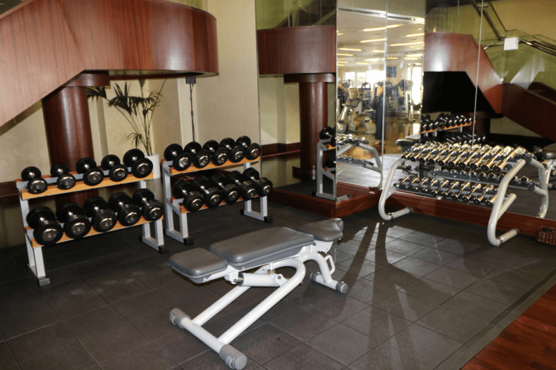 ParkHyattDubaiFitnessRoom, ParkHyattDubai, World Travel Adventurers, WorldTravelAdventurers, Luxury, Luxury travel, luxury resort, hotel review, Park Hyatt, Dubai, romantic getaway, dream vacation, exercise