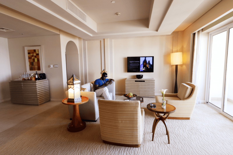 ParkHyattDubaiRoyalSuiteLivingRoom, ParkHyattDubaiBalcony, ParkHyattDubai, World Travel Adventurers, WorldTravelAdventurers, Luxury, Luxury travel, luxury resort, hotel review, Park Hyatt, Dubai, romantic getaway, dream vacation, suite