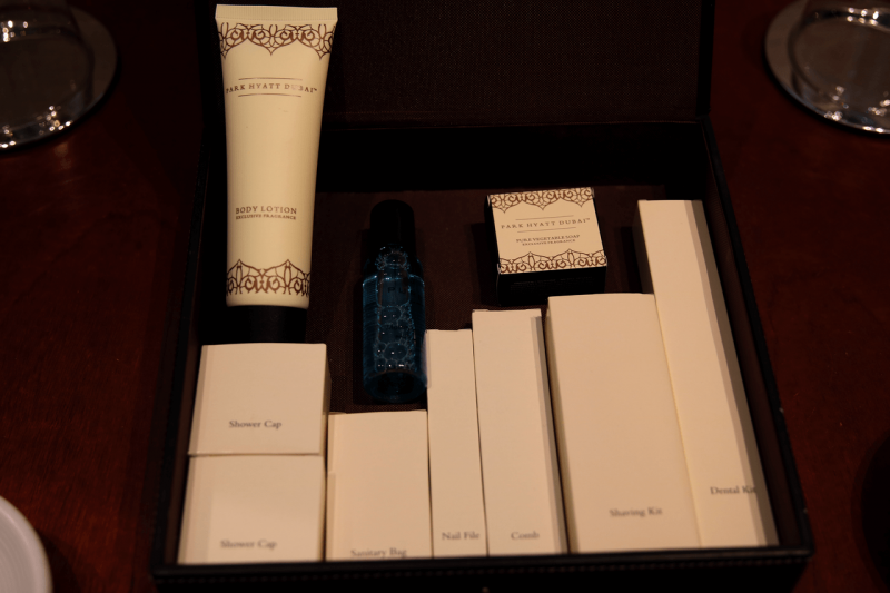 ParkHyattDubaiSuiteToiletry, ParkHyattDubaiBalcony, ParkHyattDubai, World Travel Adventurers, WorldTravelAdventurers, Luxury, Luxury travel, luxury resort, hotel review, Park Hyatt, Dubai, romantic getaway, dream vacation, suite, amenities