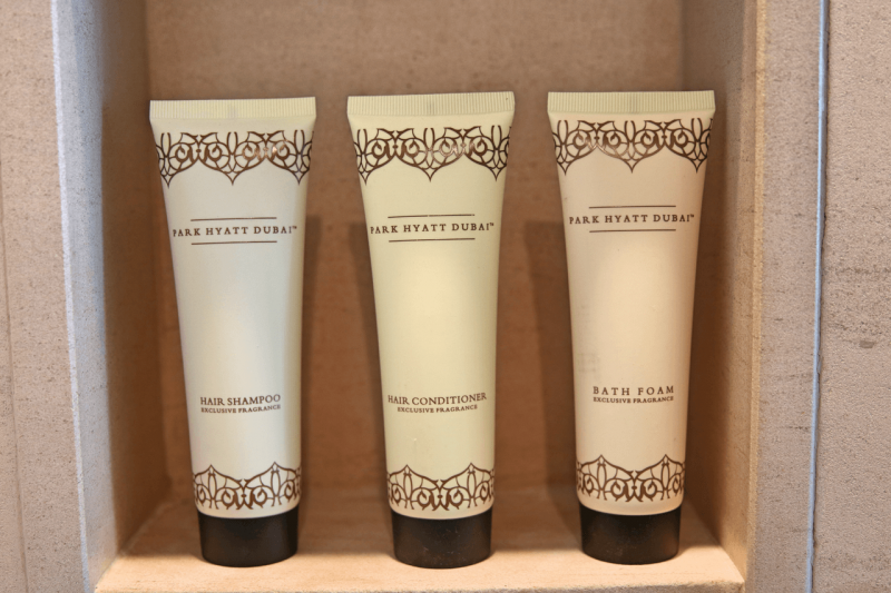 ParkHyattDubaiSuiteToiletry, ParkHyattDubai, World Travel Adventurers, WorldTravelAdventurers, Luxury, Luxury travel, luxury resort, hotel review, Park Hyatt, Dubai, romantic getaway, dream vacation, suite, toiletries
