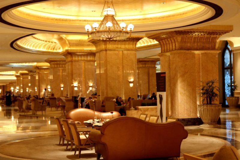 emirates palace tea, emiratespalaceentrance, Emirates Palace, Abu Dhabi, United Arab Emirates, UAE, luxury travel, luxury hotel, 5 star hotel, world travel adventurers, WorldTravelAdventurers, world's 2nd most expensive hotel, hotel review