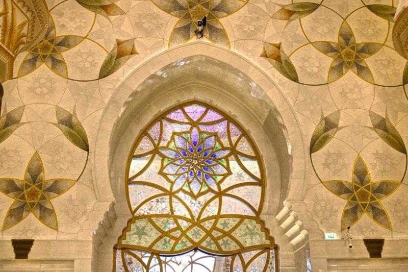 Sheikh Zayed Grand Mosque, Abu Dhabi, United Arab Emirates, UAE, architecture, art, world travel adventurers, WorldTravelAdventurers, luxury travel, luxury, prayer hall, window