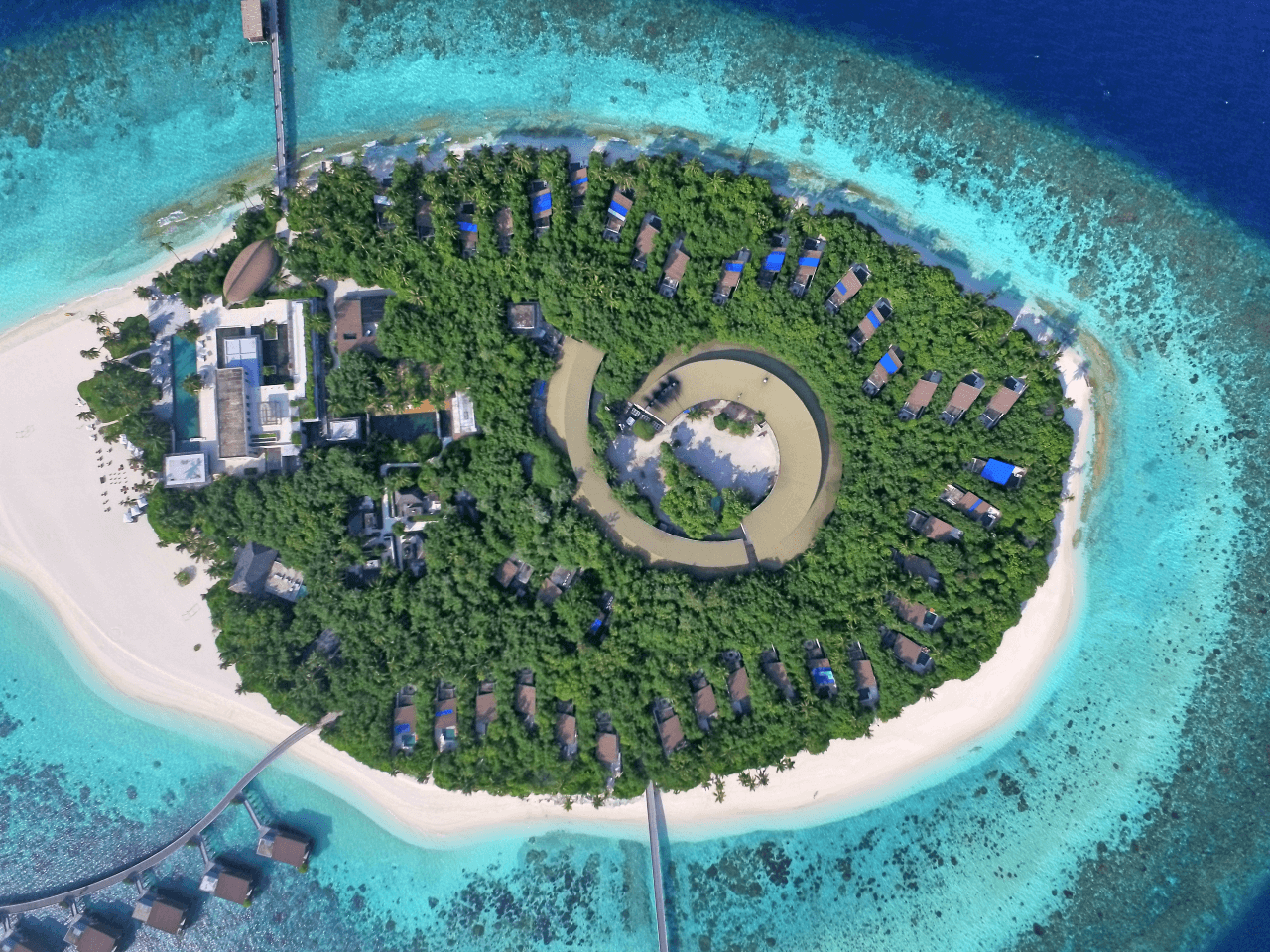 Drone View Park Hyatt Maldives Hadahaa Luxury Resort WOrldTravelAdventurers
