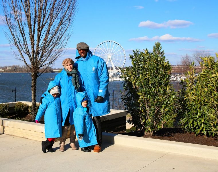 ICE! Christmas Around the World Gaylord National Christmas on the Potomac National harbor luxury resort DC holiday attraction family activity world travel adventurers WorldTravelAdventurers Blue parka
