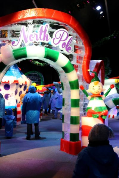 ICE! Christmas Around the World Gaylord National Christmas on the Potomac National harbor luxury resort DC holiday attraction family activity world travel adventurers WorldTravelAdventurers North Pole Santa
