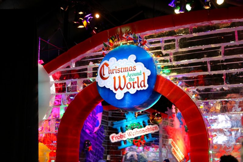 ICE! Christmas Around the World Gaylord National Christmas on the Potomac National harbor luxury resort DC holiday attraction family activity world travel adventurers WorldTravelAdventurers