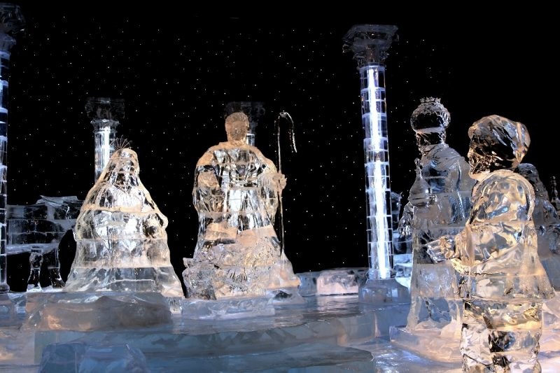 ICE! Christmas Around the World Gaylord National Christmas on the Potomac National harbor luxury resort DC holiday attraction family activity world travel adventurers WorldTravelAdventurers Nativity scene