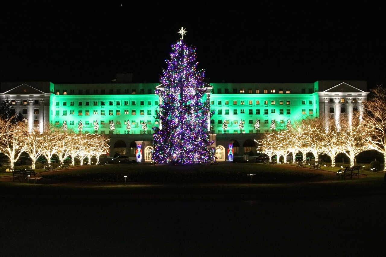The Greenbrier at Christmas luxury resort luxury travel top resort in American South world travel adventurers