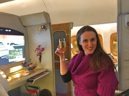 Emirates First Class Boeing 777 Trip Report Milan Dubai WorldTravelAdventurers World Travel Adventurers Luxury Travel