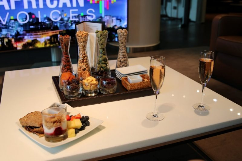 lufthansa frankfurt first class lounge luxury travel world travel adventurers WorldTravelAdventurers travel like a millionaire lounge review Germany travel blog Champagne food
