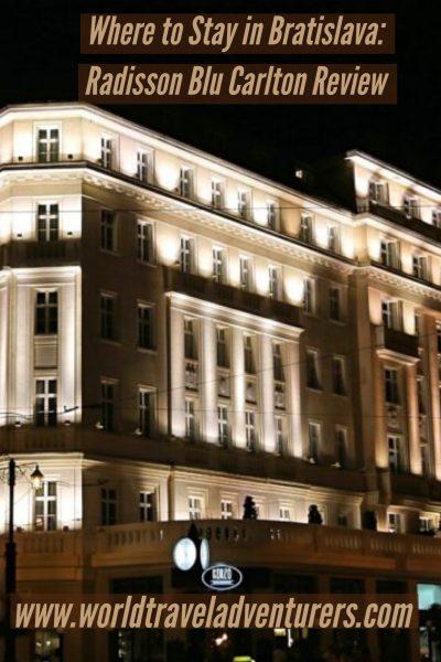 Radisson Blu Carlton Bratislava WorldTravelAdventurers