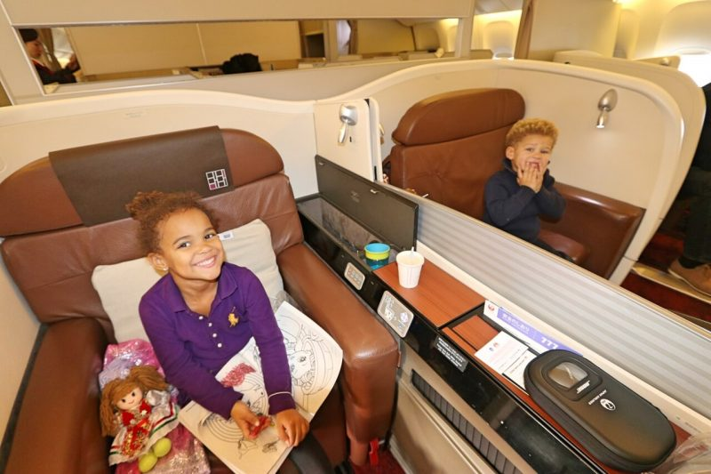 1st class kid, JAL seat selection