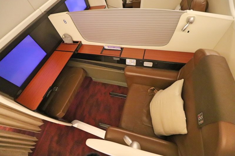 JAL 777 First Class suite