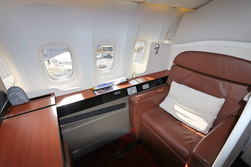 First class seats on Japan Airlines